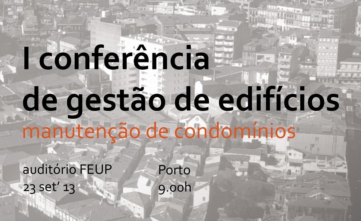 CGE 2013 – I Conferência Nacional de Gestão de Edifícios